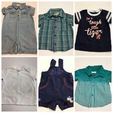 Boys Size 00 Lot Pumpkin Patch Shirt Overalls One Piece Comfort #B175