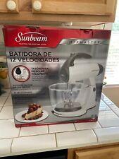 Sunbeam FPSBSMGLW White 12 Variable Speed 350 Watt Stand Mixer W/ Glass Bowl