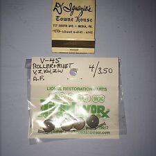 Lionel V-45 Carbon Roller & Rivet   / 4 rollers & 4 rivets / $3.50