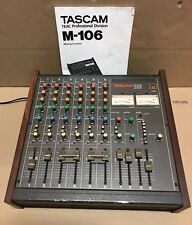 Tascam M-106, 6 Channel Mixer, Quality Preamps, 2 Band Equalizer - Needs Repair.