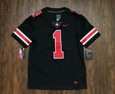 Nike Ohio State Buckeyes Blackout Football Jersey Limited #1 Osu 100% Authentic