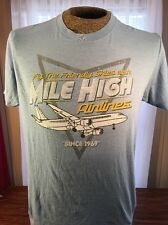 MILE HIGH AIRLINES Graphic Tshirt.   F