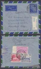 PAKISTAN 1957 3a POSTAL STATIONERY REGISTERED AEROGRAMME TO NEW ZEALAND