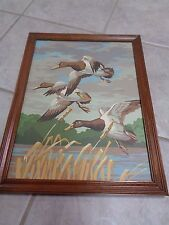 PBN Winging Home On the Wing Flying Ducks Craft House 1973 12x16 Paint by Number