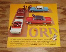 1963 Ford Full Line Sales Brochure 63 Falcon Galaxie Thunderbird Fairlane