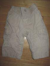 Infant Boys Khaki Tan babyGAP Cargo 100% Cotton Pants Snap Bottom - 6-12 Months
