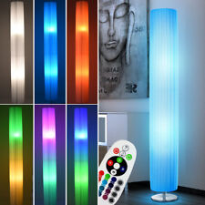 LED Textil Steh Lampe chrom Wohn Zimmer RGB FERNBEDIENUNG Decken Fluter dimmbar