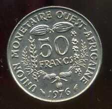 ETATS DE L'AFRIQUE DE L'OUEST  50 francs 1976 ( SUP )