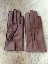 Winter Leather Gloves with Cashmere lining deerskin leather black brown cognac