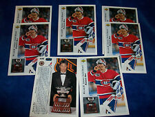 Lot of 7 - 1992-93 Upper Deck #438 Patrick Roy AW/Vezina : Montreal Canadiens