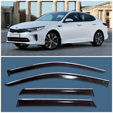 Chrome Trim Window Side Visors Guard Vent Deflectors For Kia Optima/K5 2015-2017