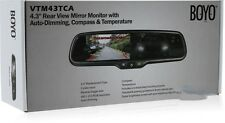 "BOYO Vision VTM43TCA 4.3"" Rear View Mirror Monitor w/ Auto-Dimming, Compass,Temp"