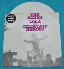 "the kinks: lola / celluloid heroes 7"" 45 1980 benelux WHITE VINYL"