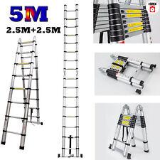 5m Multi-purpose Aluminum Folding Telescopic Ladder a Frame Extendable Step