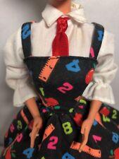 Barbie Doll Fashion Back-to-school Outfit School Girl Dress Apron Dress