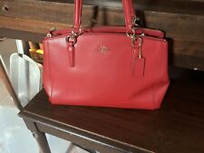 Coach Used Red Leather Shoulder Bag Includes Care Introduction Was 250