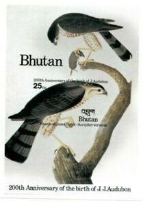Bhutan 1985 SC# 515 Birds, Hawk, J.J. Audubon - Imperf Souvenir Sheet MNH