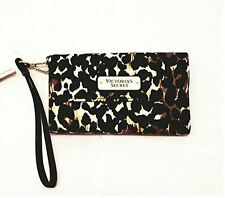 NEW VICTORIA'S SECRET CHEETAH LEOPARD IPHONE 6 7 PLUS CASE TECH WALLET WRISTLET