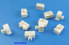 LEGO®  1x2 Grundbausteine mit clip weiß  / 10 Stück