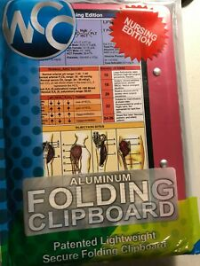 WHITECOAT CLIPBOARDS NURSING EDITION/ MEDICAL EDITION FOLDING CLIPBOARD