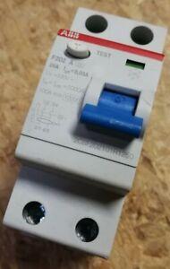 ABB F202A 25/0,03 FI-Schutzschalter Typ-A 25A 30mA 2-polig 2CSF202101R1250 F202
