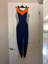 Vtg 80S Satin Shiny Liz Claiborne Sport Spandex Unitard Leotard Bodysuit Yoga S
