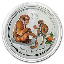 2016 ~ PURE .999 SILVER ~ 1/2~Z~ YEAR of the MONKEY ~ COLORIZED ~CAPSULE~ $34.88