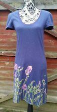 💙MISTRAL Knitted Jumper Dress, Floral Detail, Short Sleeves, Size 12💙