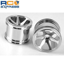 GPM Racing Losi Mini-T Aluminum Silver 6 Spoke Wheel Front SMT0627F/L