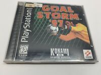 Goal Storm '97 (Sony PlayStation 1 PS1) COMPLETE Black Label CIB