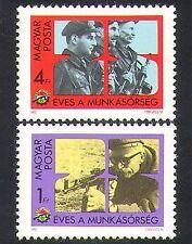 UNGHERIA 1982 LAVORATORI MILIZIA/Militare/Militare/CACCIA/FUCILE/armi 2 V Set n36951