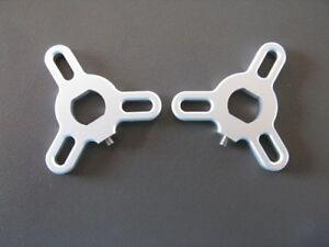 Gabelversteller Yamaha XJR1300/BT1100 Bulldog Modelle silbern eloxiert  *NEU*