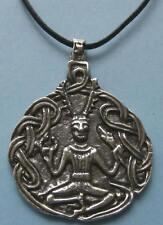 Solid Pewter Cernunnos Pendant - Celtic / Wicca / Pagan Jewellery