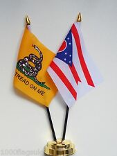 Gadsden & Ohio Double Friendship Table Flag Set