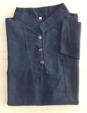 camisa CUELLO MAO NEGRO 100 % ALGODÓN manga larga Hombre camisa angkor Camboya
