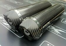 Yamaha XJR 1300 99-03 Pair, Carbon Round, Carbon Outlet Exhausts, Silencers.