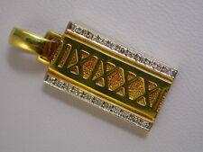 super  feiner Brillant- Anhänger Gold 750 Handarbeit