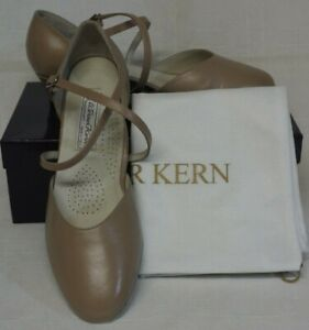 Werner Kern Felice Ladies Comfort Dancing Shoe Nappa Beige Leather  UK6.5 / EU40