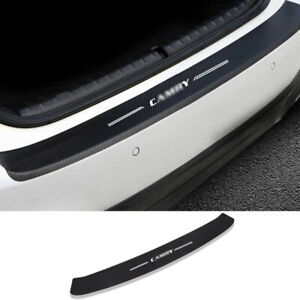 For 2018-2021 Toyota Camry Leather Carbon Fiber Rear Bumper Sill Plate Protector