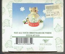 """Fitz & Floyd Charming Tails """"May All Your Christmases Be White"""" - Mib"""