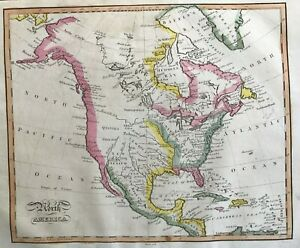1815 Antique Map; North America by James Barlow