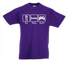 Eat Sleep Spiel T-Shirt 3-13yrs Jahre XBOX PS4 Geschenk Geburtstag lustiges Z1
