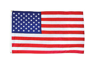 3'x5' VALLEY FORGE US NYLON AMERICAN FLAG Sewn Stripes Embroidered Stars USPN-1