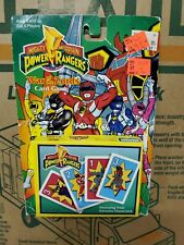 MIGHTY MORPHIN POWER RANGERS WAR OF THE ZORDS CARD GAME PARKER BROS 1994
