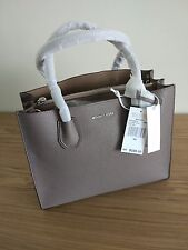 Michael Kors  -  Mercer Large Leather Tote - Cinder / Dark Grey Colour