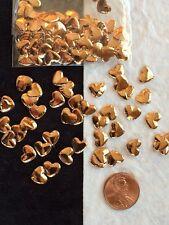 Copper Hearts tiny fabric metallic heart Wedding anniversary Valentine's cards