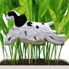 American Cocker Spaniel Planter Pick Stake Black Parti