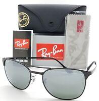 NEW Rayban Signet Sunglasses RB3429M 002/40 55 Black Silver Mirror AUTHENTIC NIB