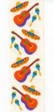 Vintage Mrs Grossman Siesta Maracas Sombrero Guitar Sticker Strip