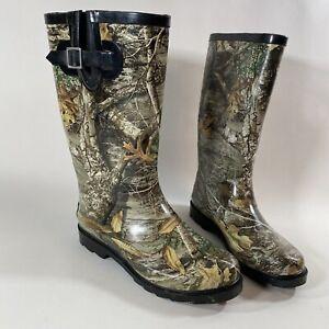 Realtree Edge Magellan Women's  Camo Rubber Boots Size 7